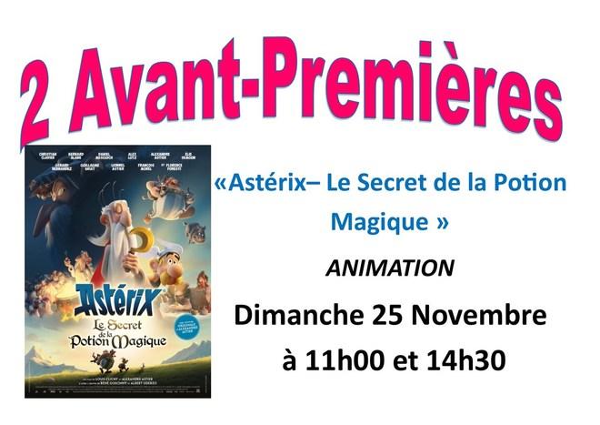 avp Astérix -- le secret de la potion magique 25 novembre