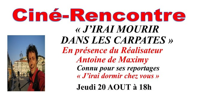 Ciné-Rencontre  avec Antoine de Maximy