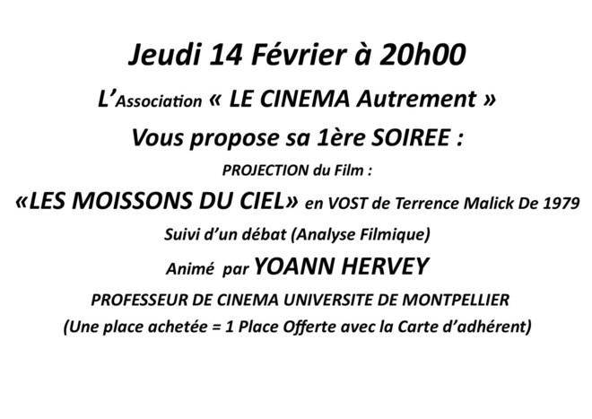 Soirée LES MOISSONS DU CIEL